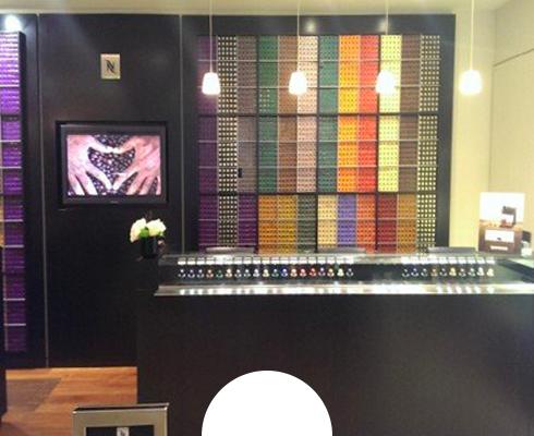 Coffee Wall and self-serve Pod Display